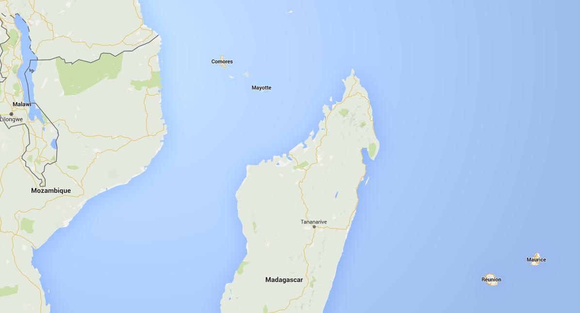 Mayotte dans l'océan indien